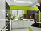 projekt Dom w wisteriach 2 (P) Wizualizacja kuchni 2 widok 1