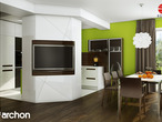 projekt Dom w wisteriach 2 (P) Wizualizacja kuchni 2 widok 3