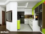 projekt Dom w wisteriach 2 (P) Wizualizacja kuchni 2 widok 4