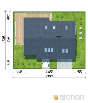 projekt Dom w wisteriach 2 (P) sytuacja