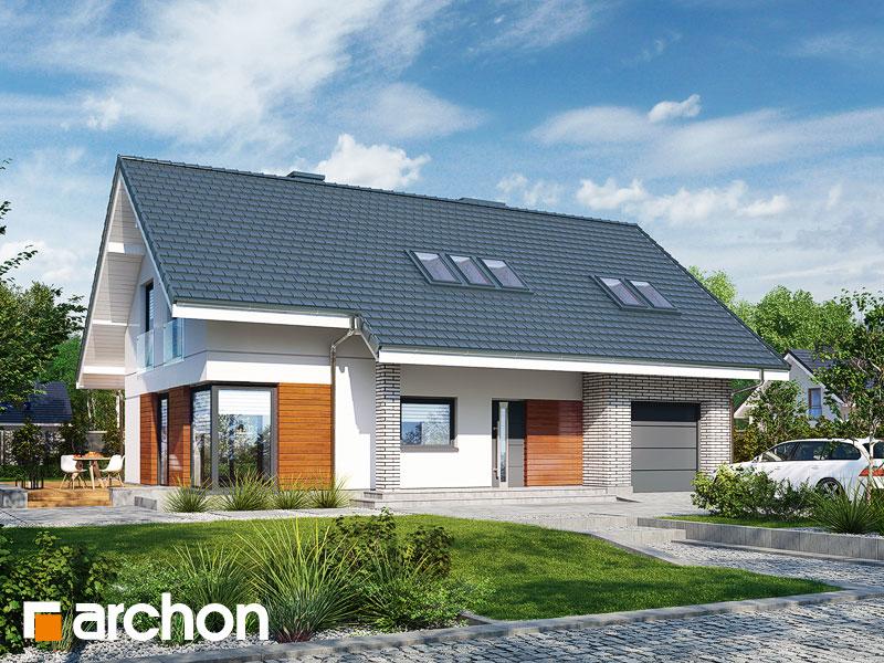 gotowy projekt Dom w wisteriach 2 (P) widok 1