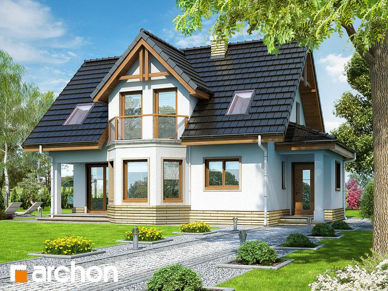 projekt Dom w żurawinie widok 1