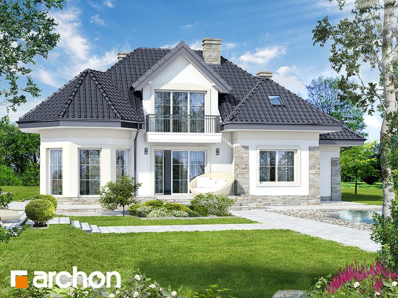 gotowy projekt Dom w hibiskusie widok 1