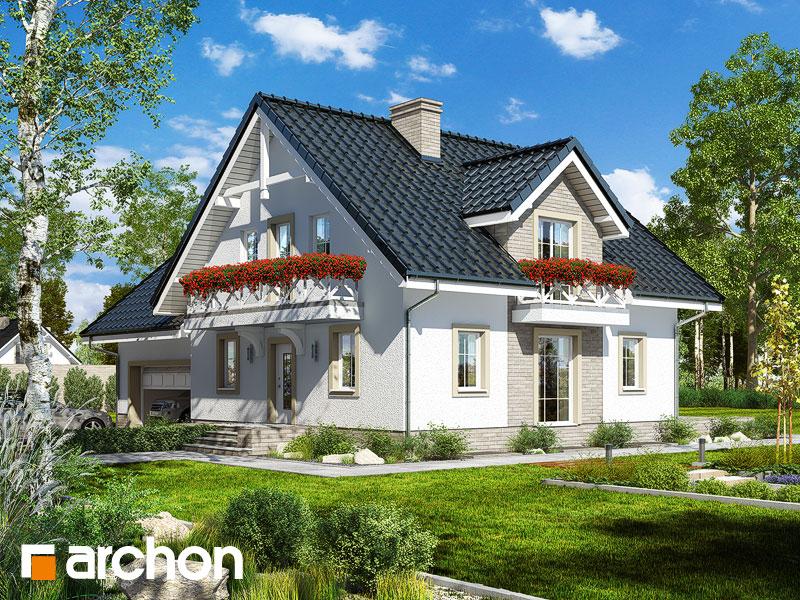 projekt Dom w rododendronach 17 (G2P) widok 1