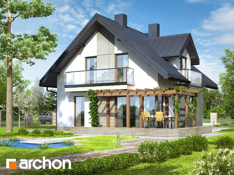 gotowy projekt Dom w rododendronach (N) widok 1