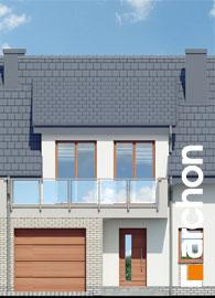 Elewacja frontowa projekt dom w klematisach 20 sa  264