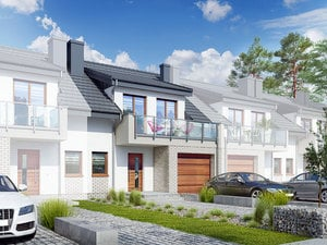 projekt Dom w klematisach 20 (SA) lustrzane odbicie 1