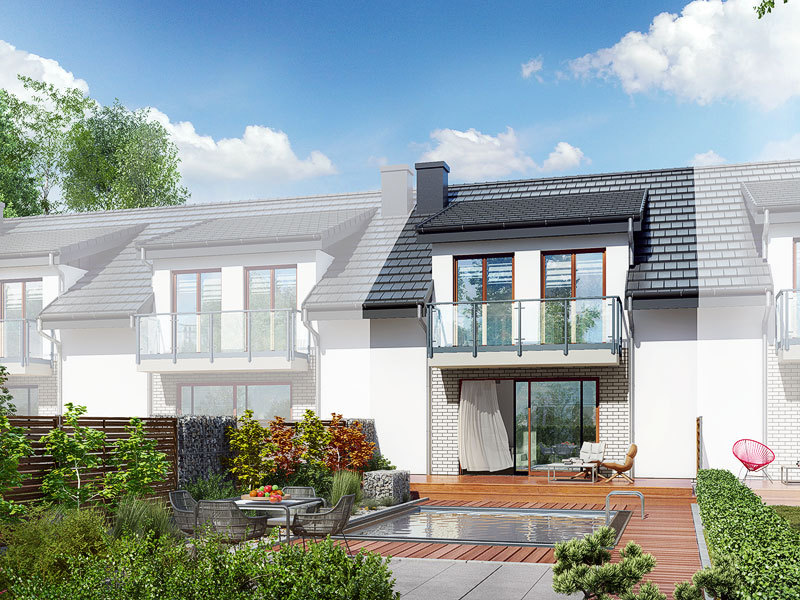 Lustrzane odbicie 2 projekt dom w klematisach 20 sa  290lo
