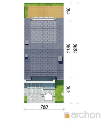 projekt Dom w klematisach 20 (SA) sytuacja