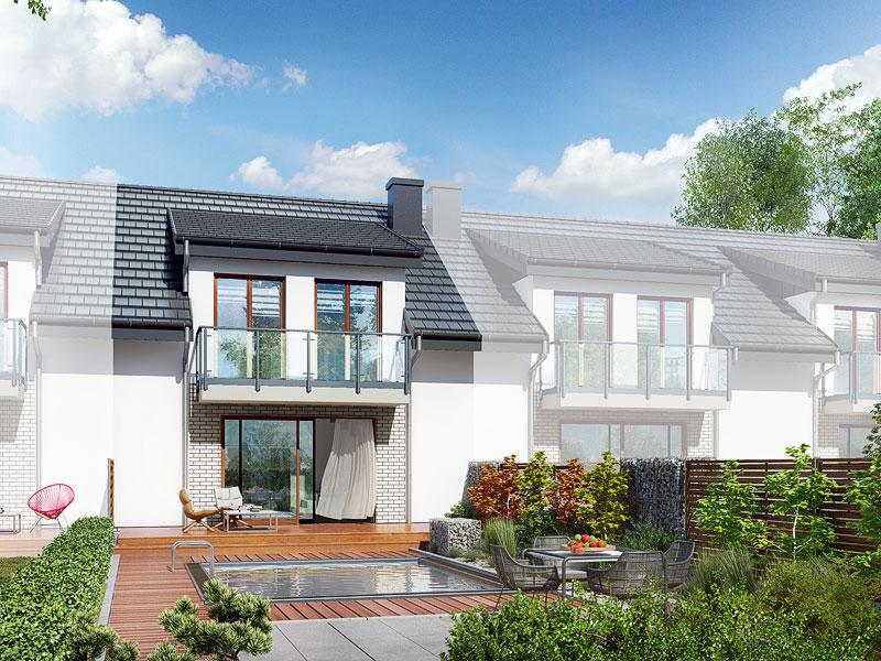 Widok 2 projekt dom w klematisach 20 sa  290
