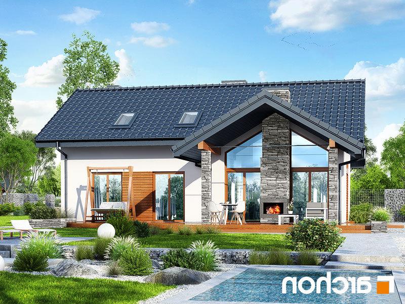 Lustrzane odbicie 1 projekt dom w pierwiosnkach w  289lo
