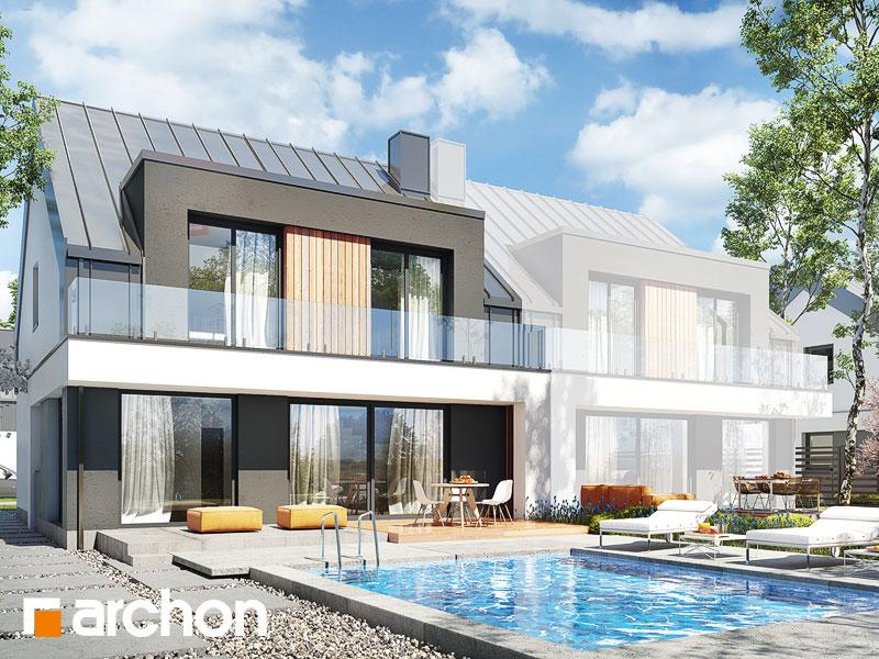 gotowy projekt Dom w klematisach 29 (B) widok 1