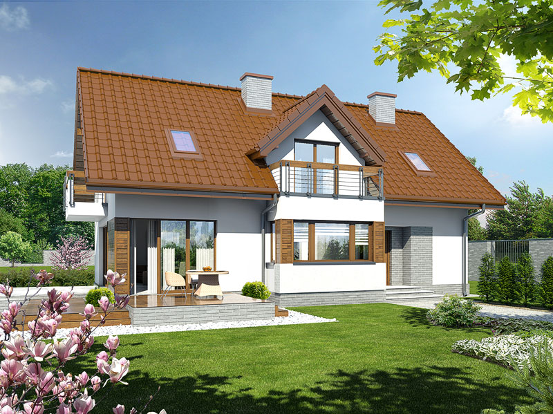 gotowy projekt Dom w majeranku 2 (N) widok 1