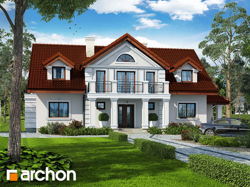 gotowy projekt Dom pod klonem (P) widok 1