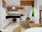 projekt Dom w aksamitkach Wizualizacja kuchni 1 widok 1