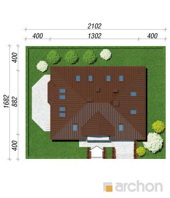 projekt Dom w aksamitkach sytuacja