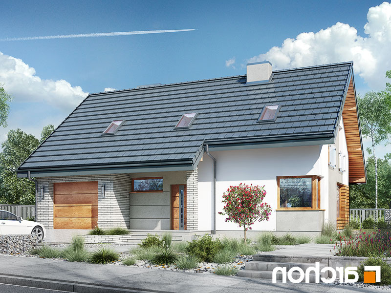 Lustrzane odbicie 1 projekt dom w zurawkach 4 p  289lo