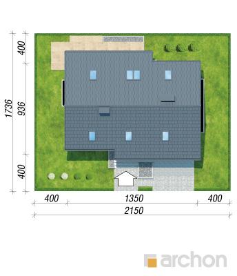 projekt Dom w żurawkach 4 (P) sytuacja