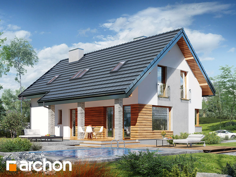 Widok 2 projekt dom w zurawkach 4 p  290