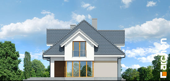 Elewacja boczna projekt dom w sliwach g2  266