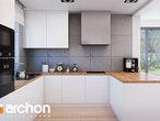 projekt Dom w śliwach (G2) Wizualizacja kuchni 1 widok 2