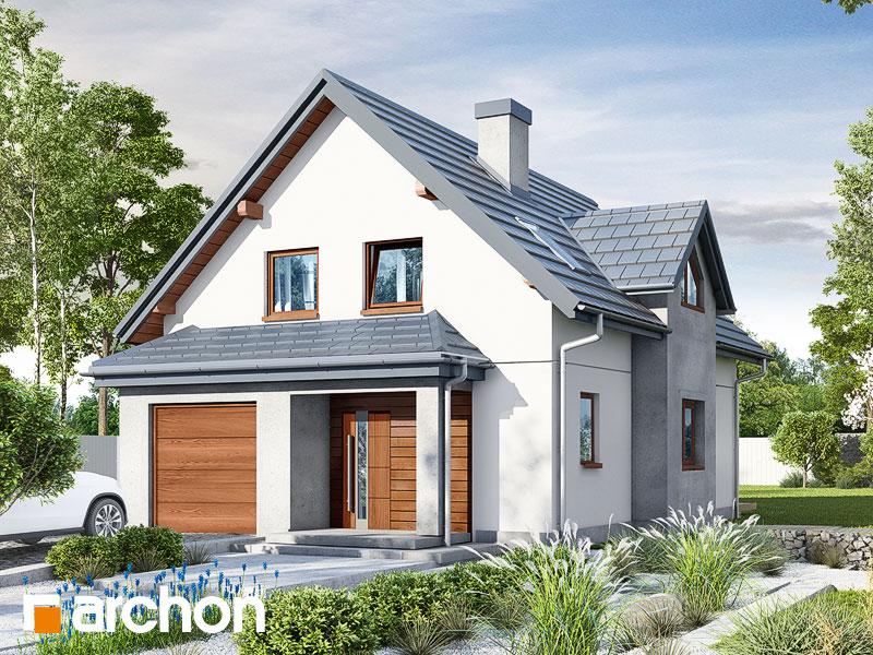 gotowy projekt Dom w fuksjach widok 1