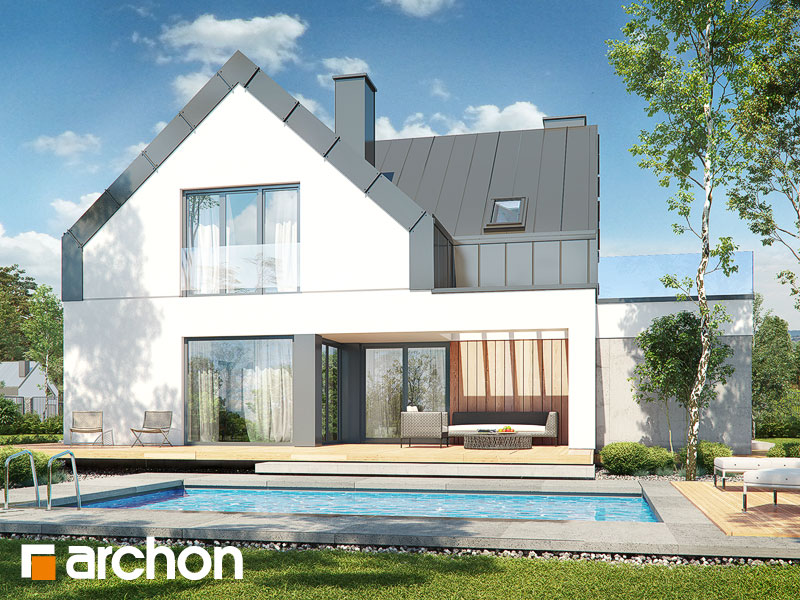 gotowy projekt Dom w ligustrach (G2) widok 1