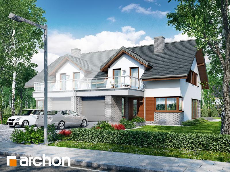 gotowy projekt Dom w czernicach 2 (GB) widok 1