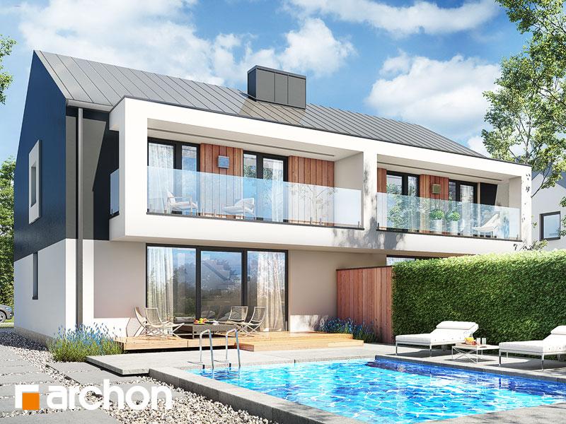 gotowy projekt Dom w klematisach 28 (R2) widok 1