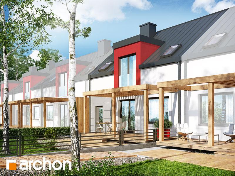 gotowy projekt Dom w cyklamenach 5 (S) widok 1