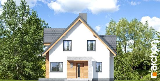 Elewacja frontowa projekt dom w miodunkach n  264