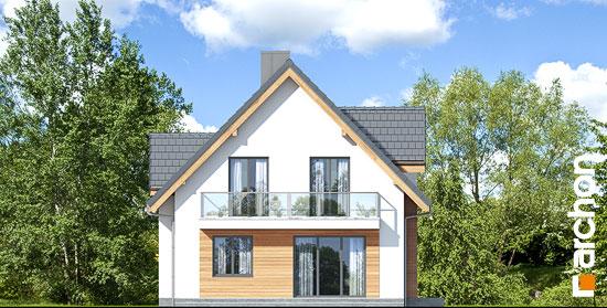 Elewacja ogrodowa projekt dom w miodunkach n  267