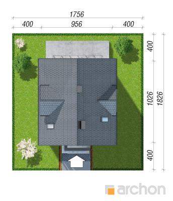 projekt Dom w miodunkach (N) sytuacja