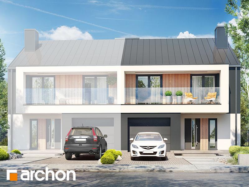 gotowy projekt Dom w klematisach 28 (B) widok 1