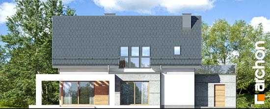 Elewacja ogrodowa projekt dom w arabisach  267