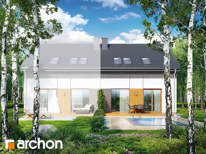 gotowy projekt Dom w arkadiach (B) widok 1