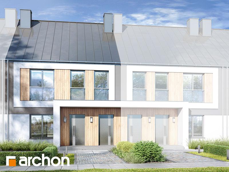 gotowy projekt Dom przy trakcie 2 (R2SA) widok 1