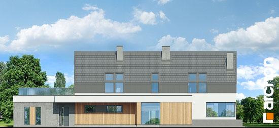 Elewacja boczna projekt dom w estragonie 2 g2p  265
