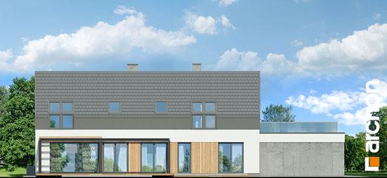 Elewacja boczna projekt dom w estragonie 2 g2p  266