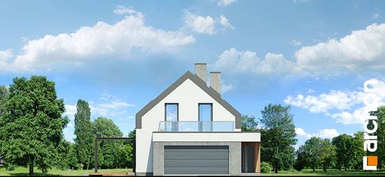 Elewacja frontowa projekt dom w estragonie 2 g2p  264