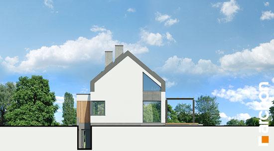 Elewacja ogrodowa projekt dom w estragonie 2 g2p  267