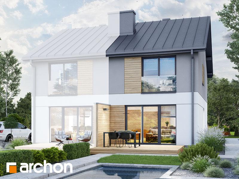 gotowy projekt Dom w riveach 4 (B) widok 2