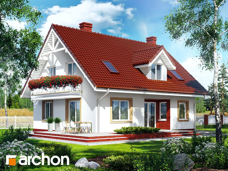 gotowy projekt Dom pod pistacją widok 2