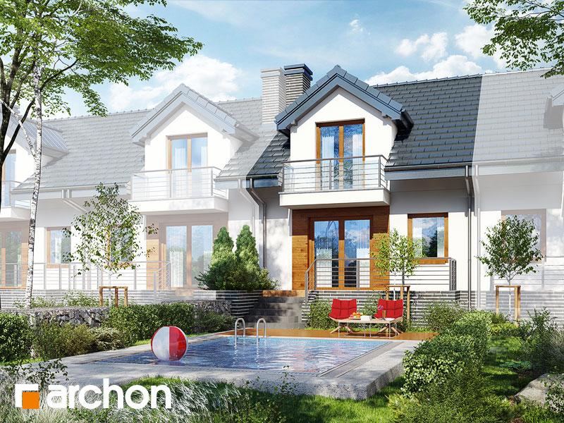 gotowy projekt Dom w cyklamenach 4 (PS) widok 1