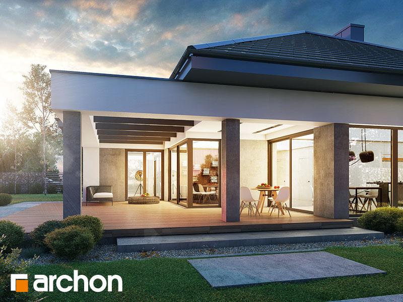 gotowy projekt Dom w przebiśniegach 7 (G2) widok 1