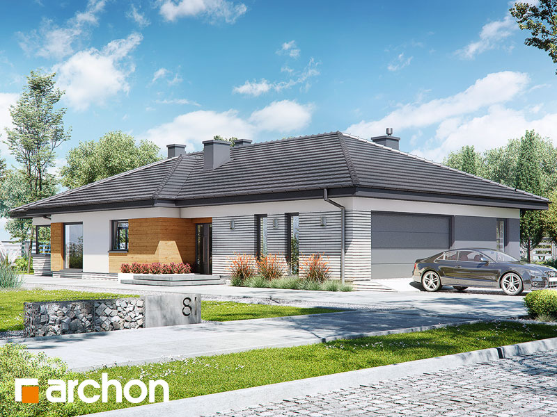 gotowy projekt Dom w żagwinach 2 (G2) widok 1