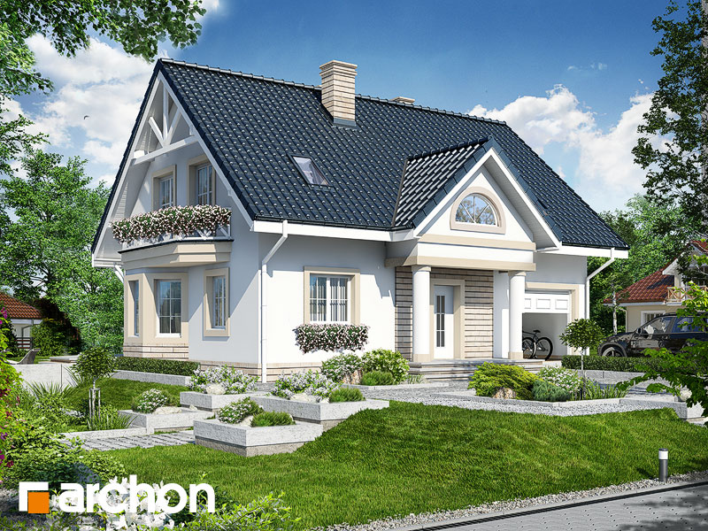 gotowy projekt Dom w szafirkach widok 1