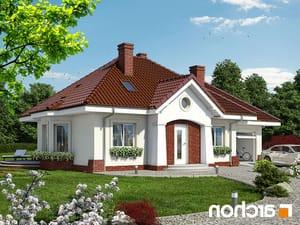 projekt Dom w lotosach (G) lustrzane odbicie 1