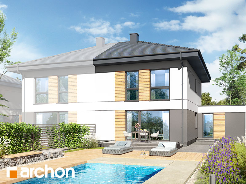 gotowy projekt Dom w tunbergiach 5 (GS) widok 2