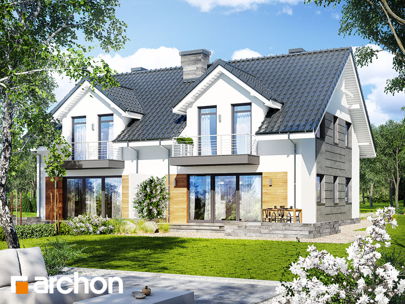 gotowy projekt Dom w klematisach 6 (R2) widok 2